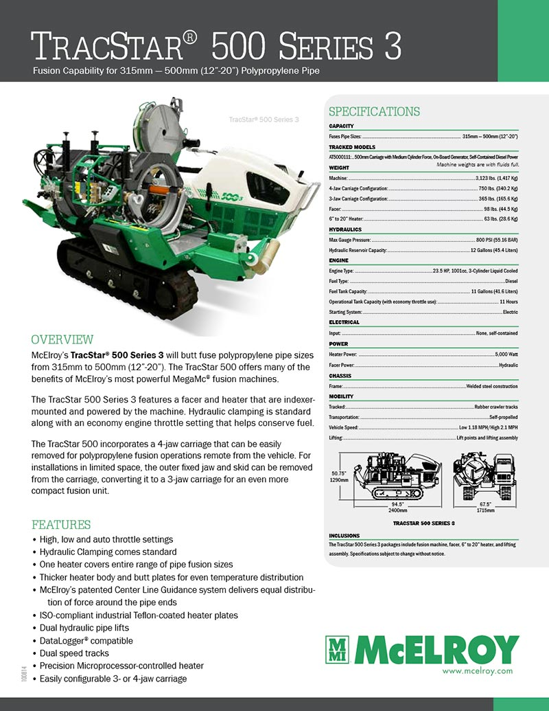 mcelroy tracstar 618 parts manual
